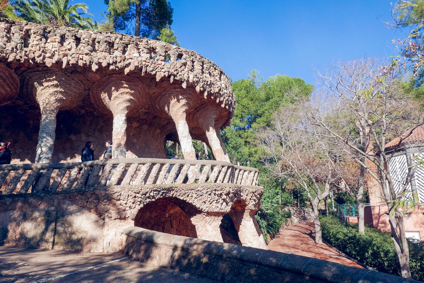 Spain Barcelona Parc Guell gaudi