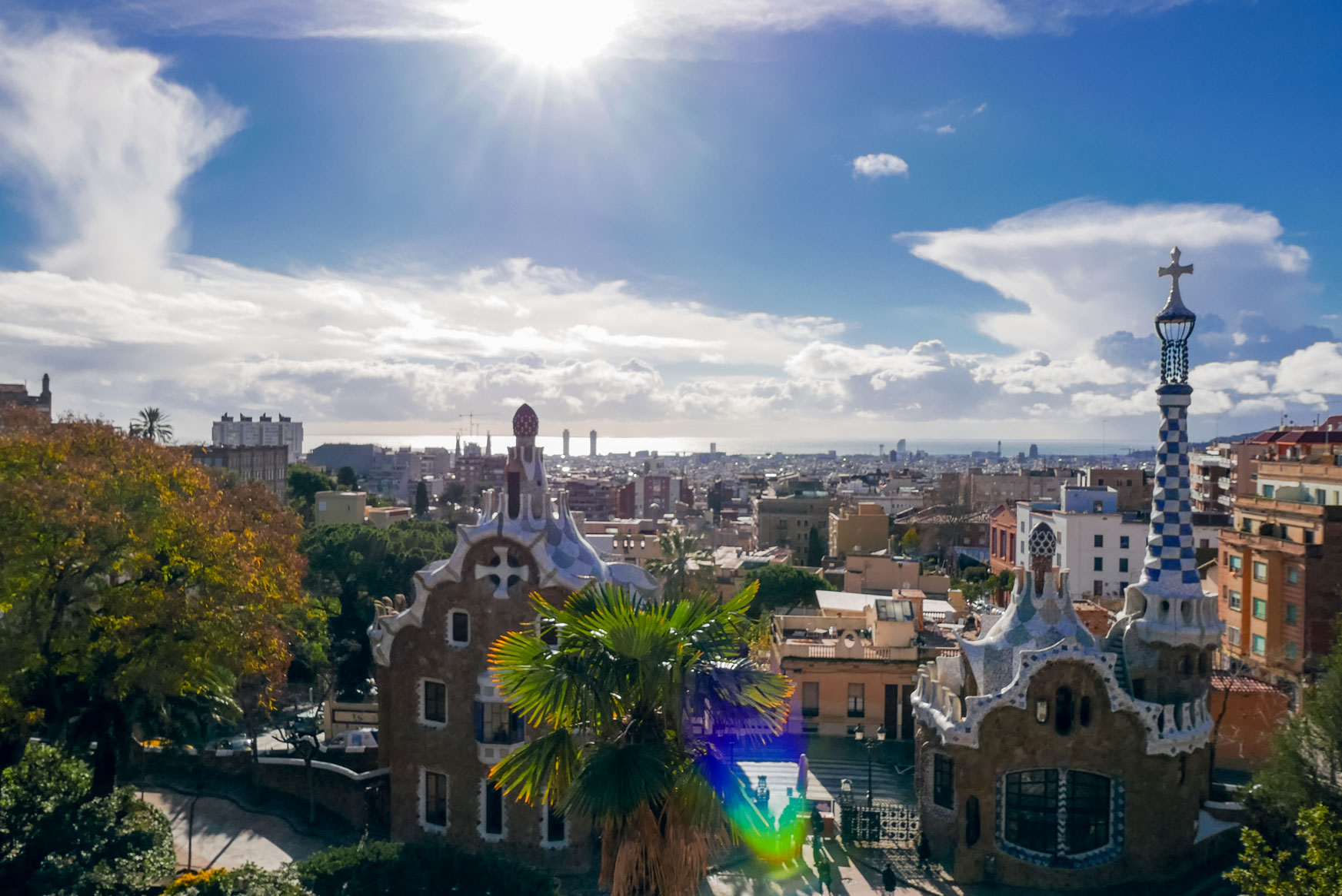 Spain Barcelona Parc Guell top