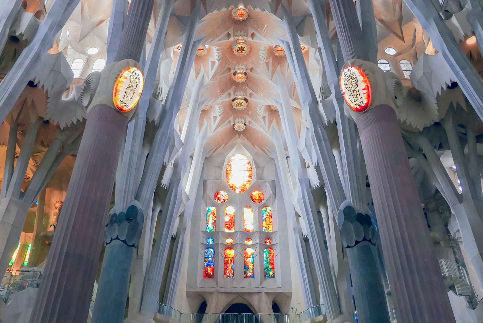 Spain Barcelona Sagrada familia nave