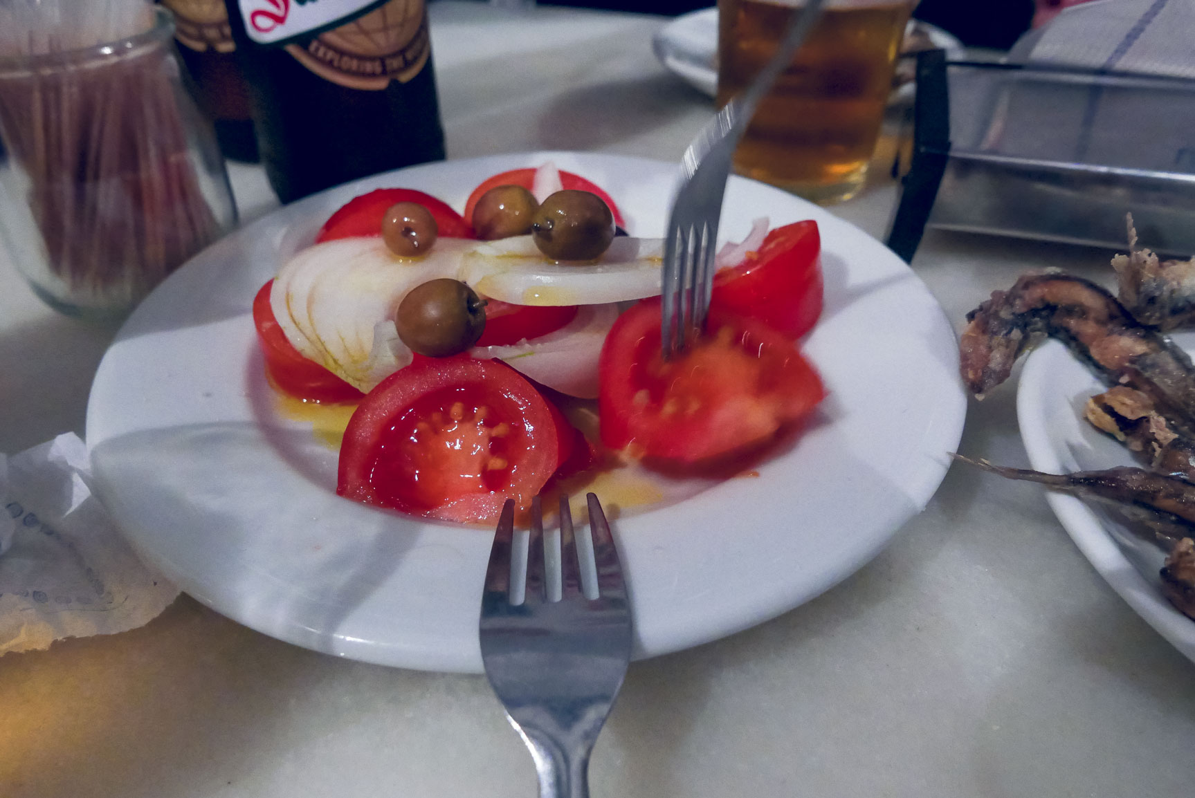 Spain Barcelona Tapas bar la plata tomatoes